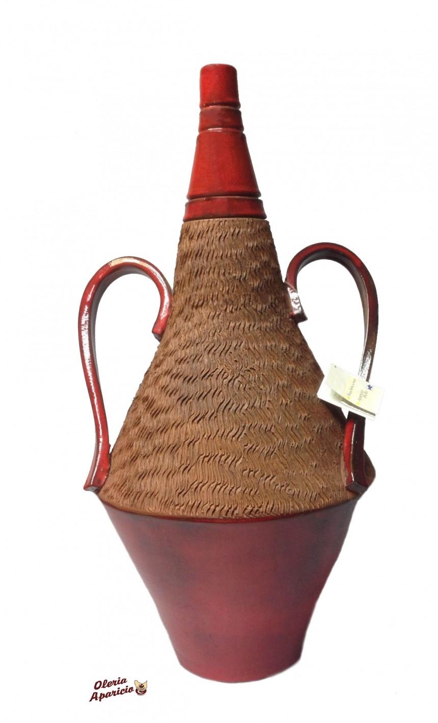 ánfora de cerámica artesanal