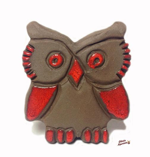 Búho de cerámica artesanal