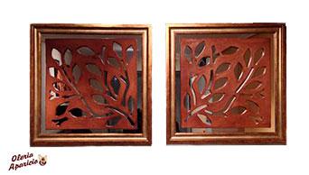 espejos decoración interiores de cerámica