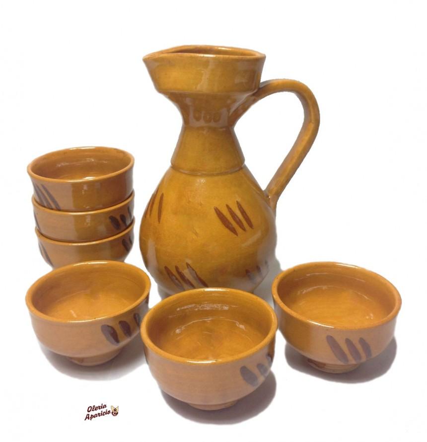 Juego de vino ceramica