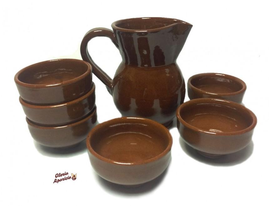 Juego de vino de cerámica