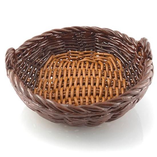 Cestra cerámica trenzada marrón
