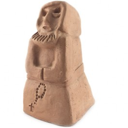 Monje pequeño peregrino cura alfarería de buño cerámica olería