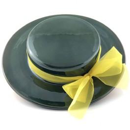 sombreo de colgar verde